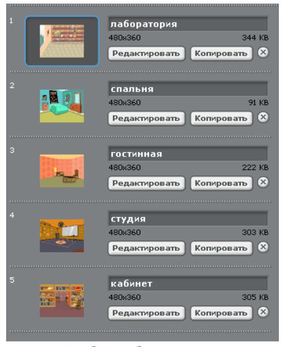Взаимодействие с фонами. Переход из комнаты в комнату в Scratch