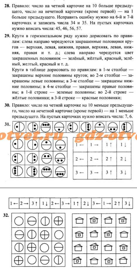 ГДЗ Информатика 3 класс Раздел 4 Задания 28-32 Горячев, Горина